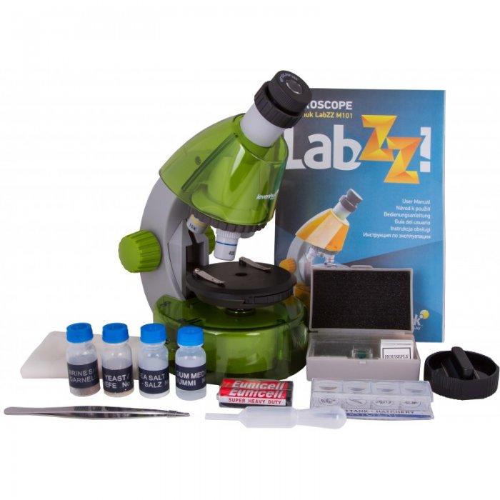Mikroskopas Levenhuk LabZZ M101 Lime 40x-640x