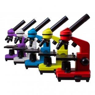 Mikroskopas Levenhuk Rainbow 2L Plus Amethyst 64x - 640x su eksperimento komplektu