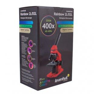 Mikroskopas Levenhuk Rainbow 2L Orange 40x-400x su eksperimento komplektu