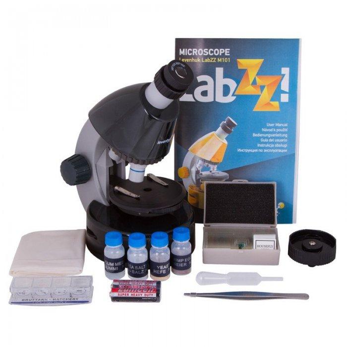 Mikroskopas Levenhuk LabZZ M101 Moonstone 40x-640x