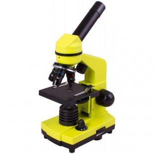 Mikroskopas Levenhuk Rainbow 2L Lime 40x-400x su eksperimento komplektu K50